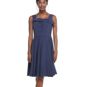 Gal Meets Glam Zoe Pleated Bow A-Line Dress 10